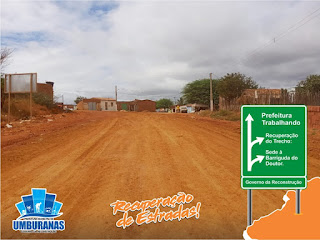64322198 426137774606780 7460655778551037952 n - Prefeitura de Umburanas recupera trecho que liga Sede do Município a Barriguda do Doutor.