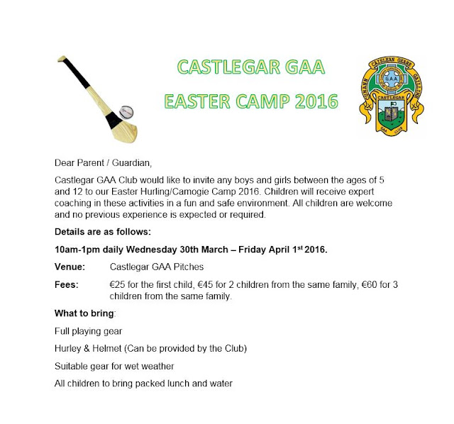 Castlegar GAA Club Easter Camp 2016