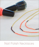 http://www.cremedelacraft.com/2013/09/5-Minute-DIY-Nail-Polish-Colored-Necklaces.html