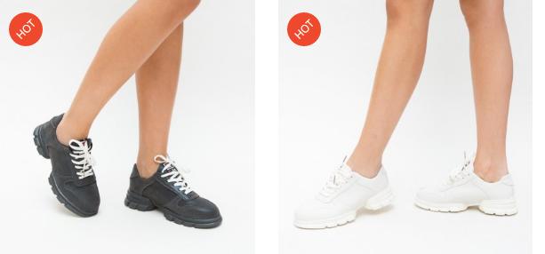 Adidasi albi, negri ieftini moderni de femei de calitate