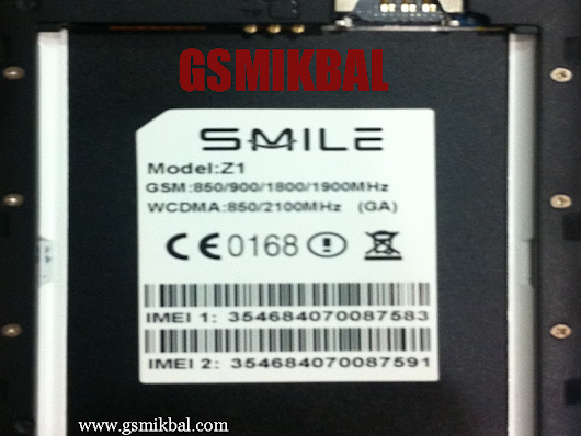 GSM IKBAL: Smile Z1 Mtk 6580 Flash file Stoke Firmware 100% Tested Without Password