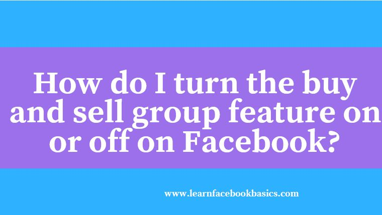 how to use facebook buy and sell