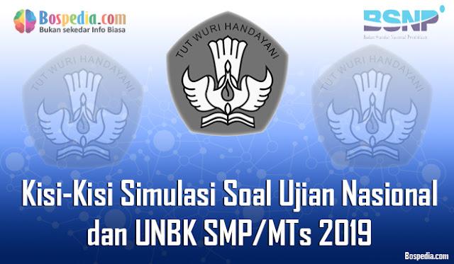 Kisi-Kisi Simulasi Soal Ujian Nasional (UN) dan UNBK SMP/MTs 2019