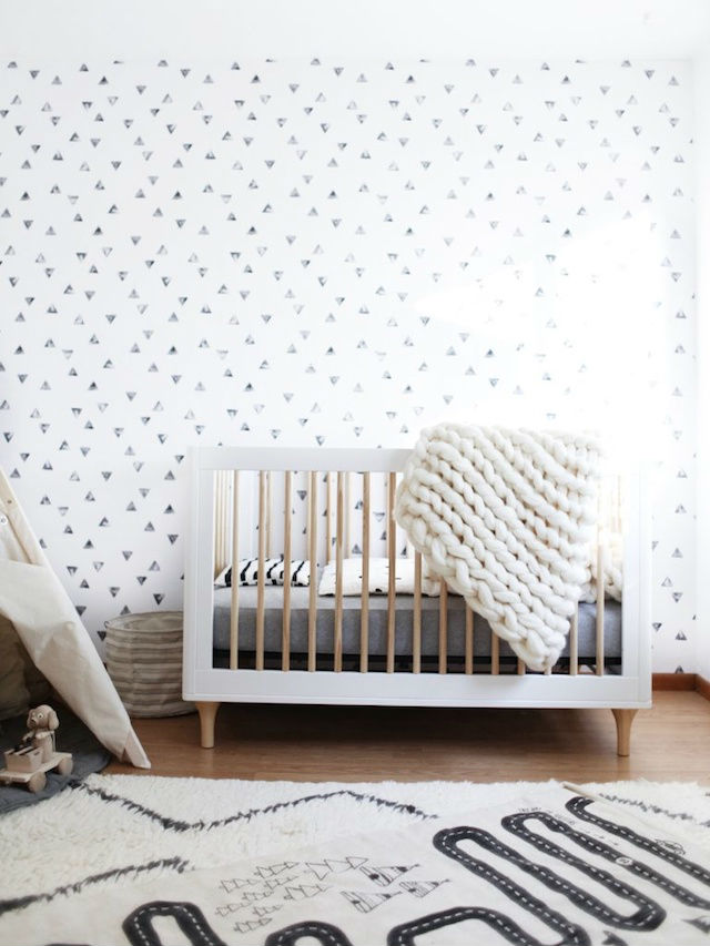 manta lana merino XXL en dormitorio infantil