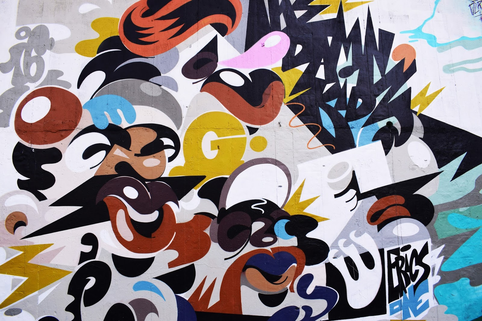 freshen up your living space for summer - A colourful graffiti mural