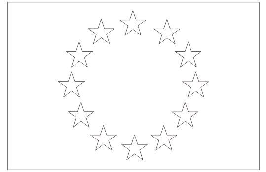Diario di scuola: La bandiera europea - da colorare
