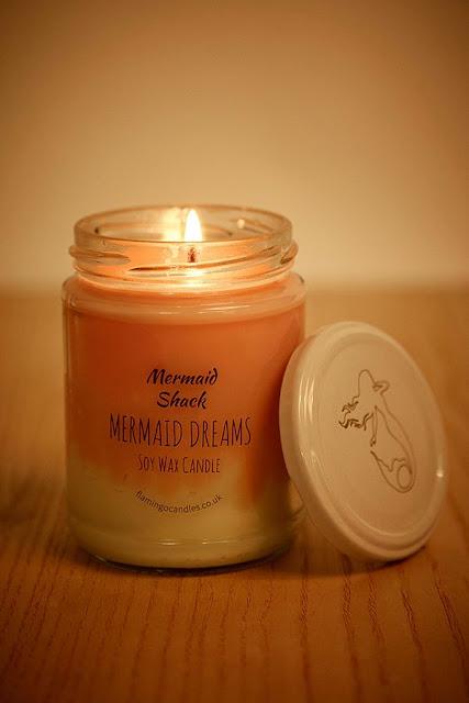 Flamingo Mermaid Shack Candle