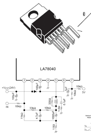 vertical ic pin out data