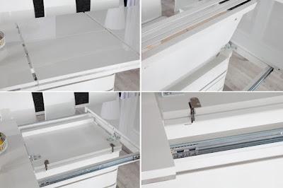dizajnovy nabytok Reaciton, nabytok v bielej farbe, stolovy nabytok