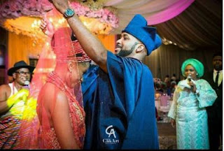 Banky W and his bride, Adesua Etomi