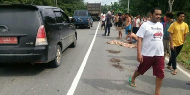 Bocah 8 Tahun di Inhu Jadi Korban Tabrak Lari dan Tewas Bersimbah Darah Dihadapan Ibunya