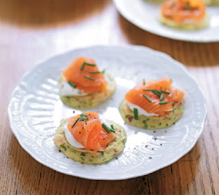 smoked salmon sesame blinis recipe