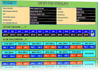 Aplikasi Laporan Bulanan Sekolah Dasar menggunakan Excel