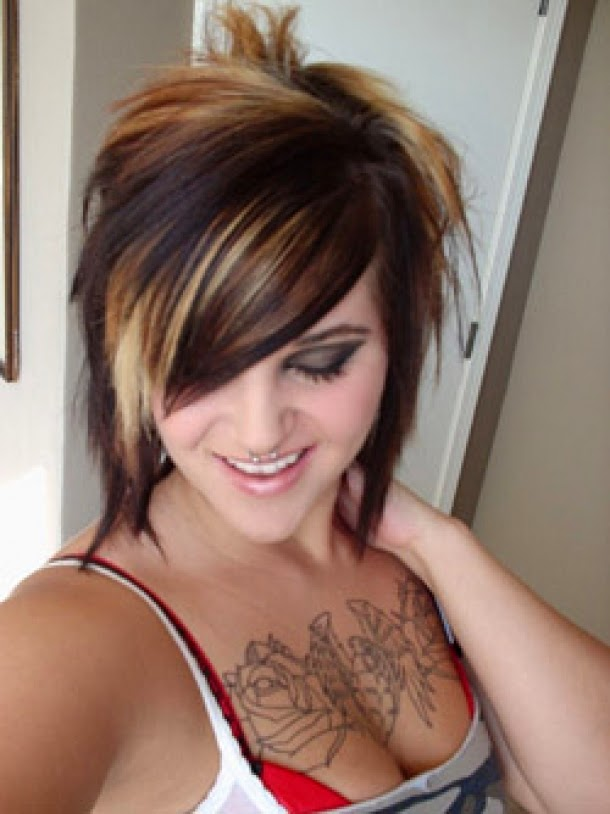 Awesome Short Emo Girl Hairstyles Hairstyle Trends Short Hairstyles Gunalazisus