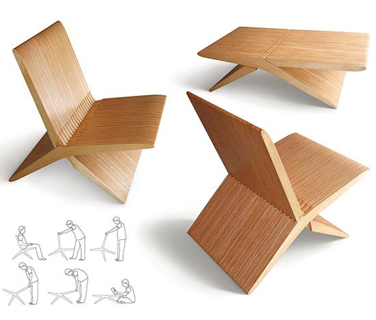 cadeira moderna, móvel multifuncional, design, cadeira, móvel, brav design, a casa eh sua, craft design