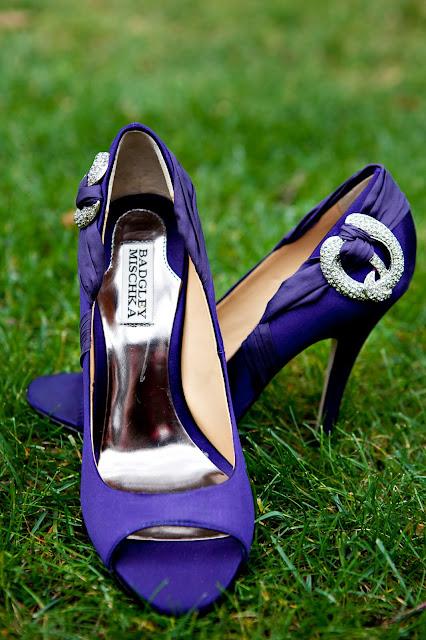 Purple Badgley Mischka Wedding Shoes