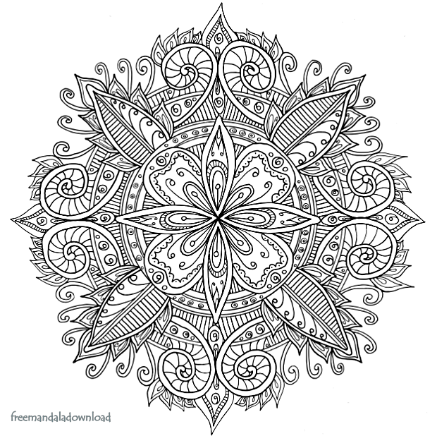 Neue Mandala Farbseiten - Free Mandala