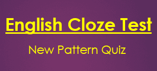3 English Cloze Test New Pattern Quiz IBPS PO Clerk