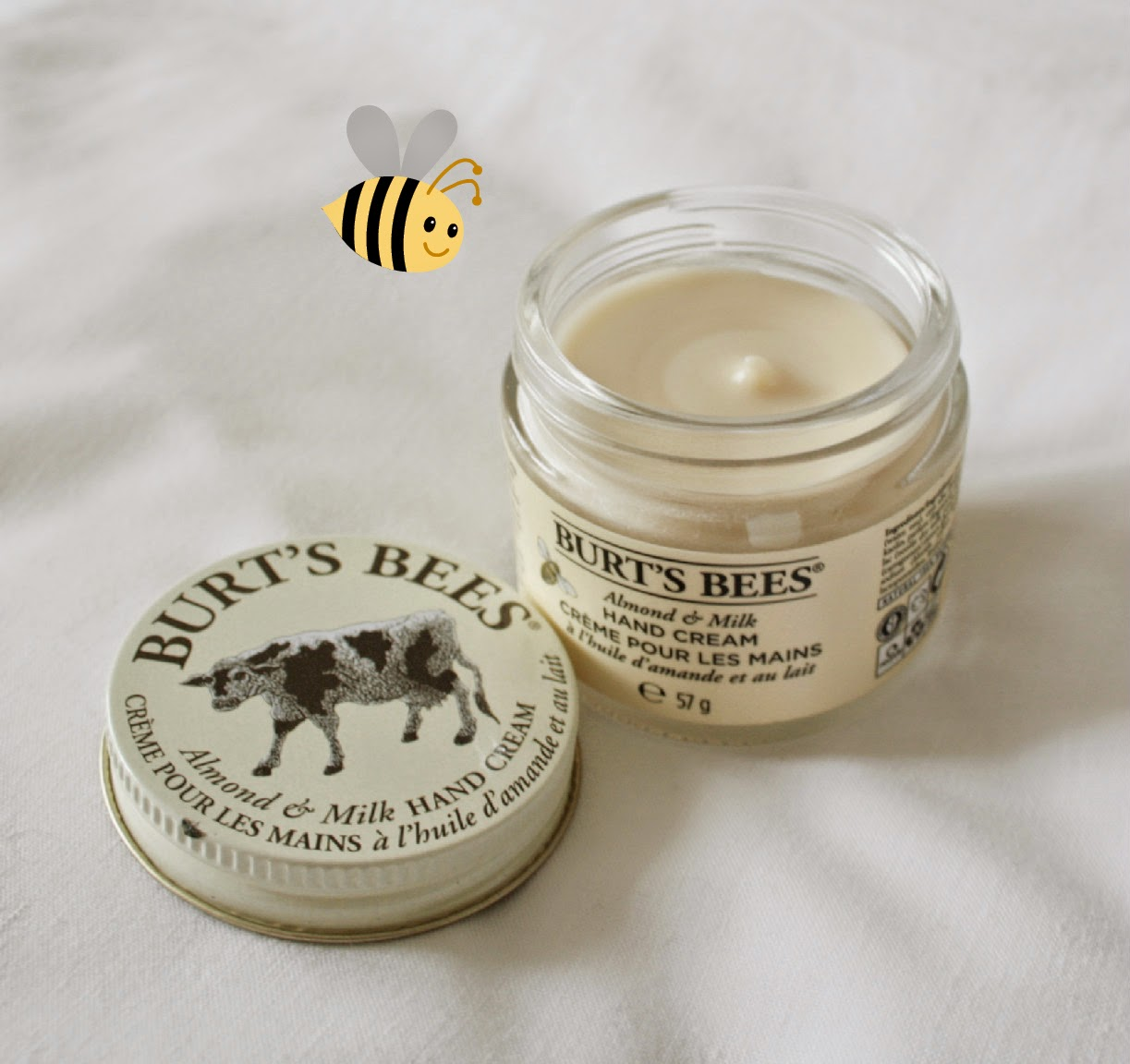 A little goes a long way - Burt's Bees Almond Milk hand cream smells of marzipan and is so moisturising!