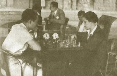 Partida de ajedrez Glòria Velat - Salomon Flohr, Roses 1935