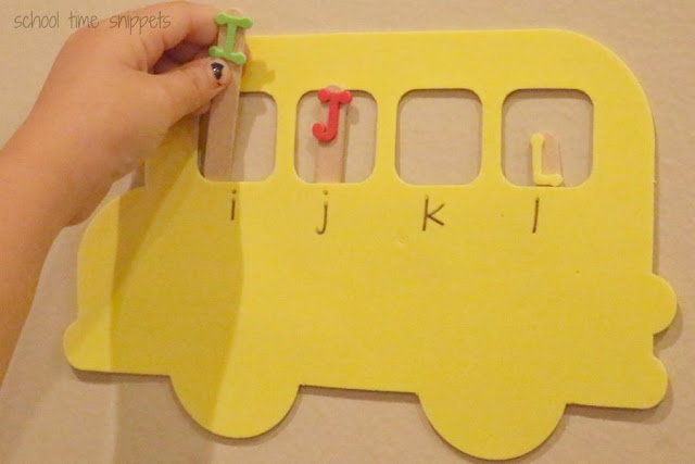 preschool uppercase and lowercase matching activity