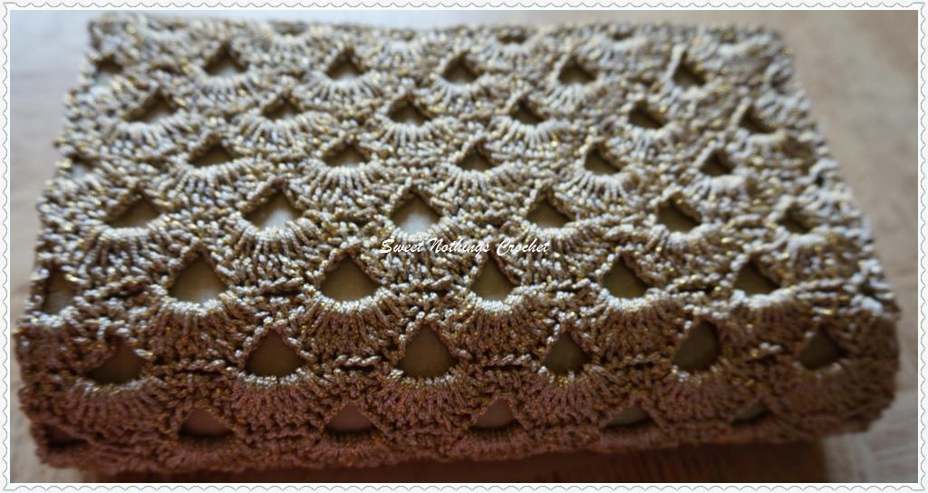 Sweet Nothings Crochet Close Shelled Clutch Purse 4