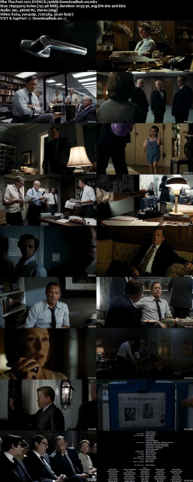 The Post 2017 English 750MB DVDScr x264