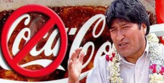 Bolivia expulsa a Coca-Cola y McDonalds de su territorio.