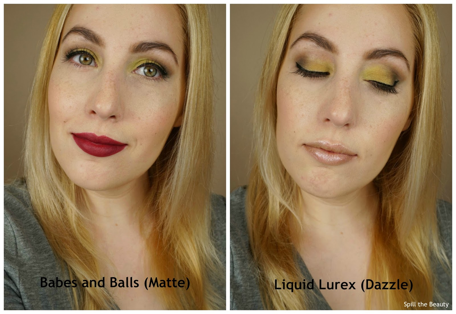 MAC it's a strike collection review swatches babes and balls liquid lurex lip swatch