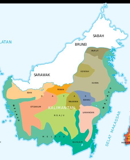 Etnis dan bahasa Kalimantan in indonesia