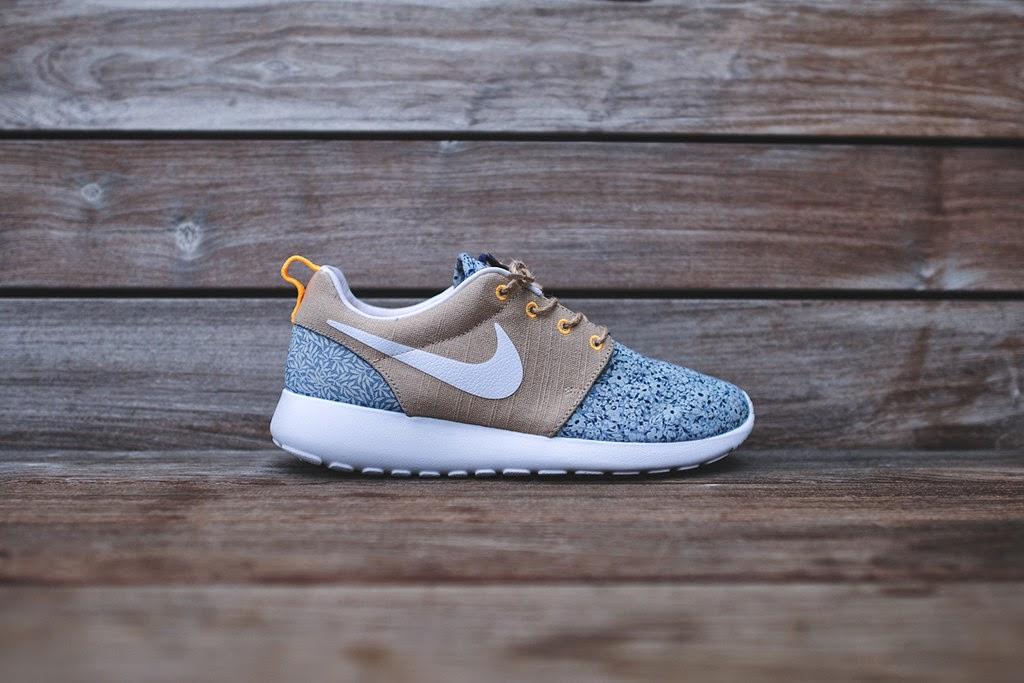 buy online 961ac 386f6 More Info   Buy. Nike Women s Roshe Run Liberty QS - Blue Recall   Linen ...