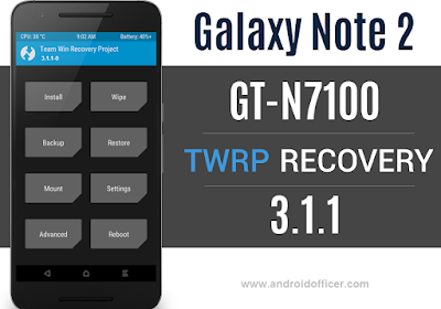 TWRP Recovery for Galaxy Note 2 GT-N7100