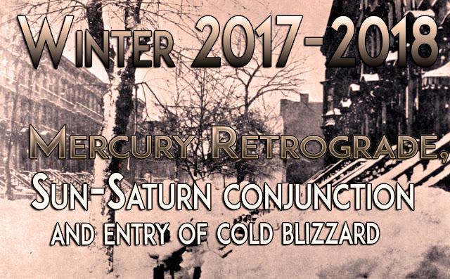 Cosmic Alert for Winter 2017-2018 : Retrograde Mercury, Sun-Saturn Conjunction and Erratic winter season