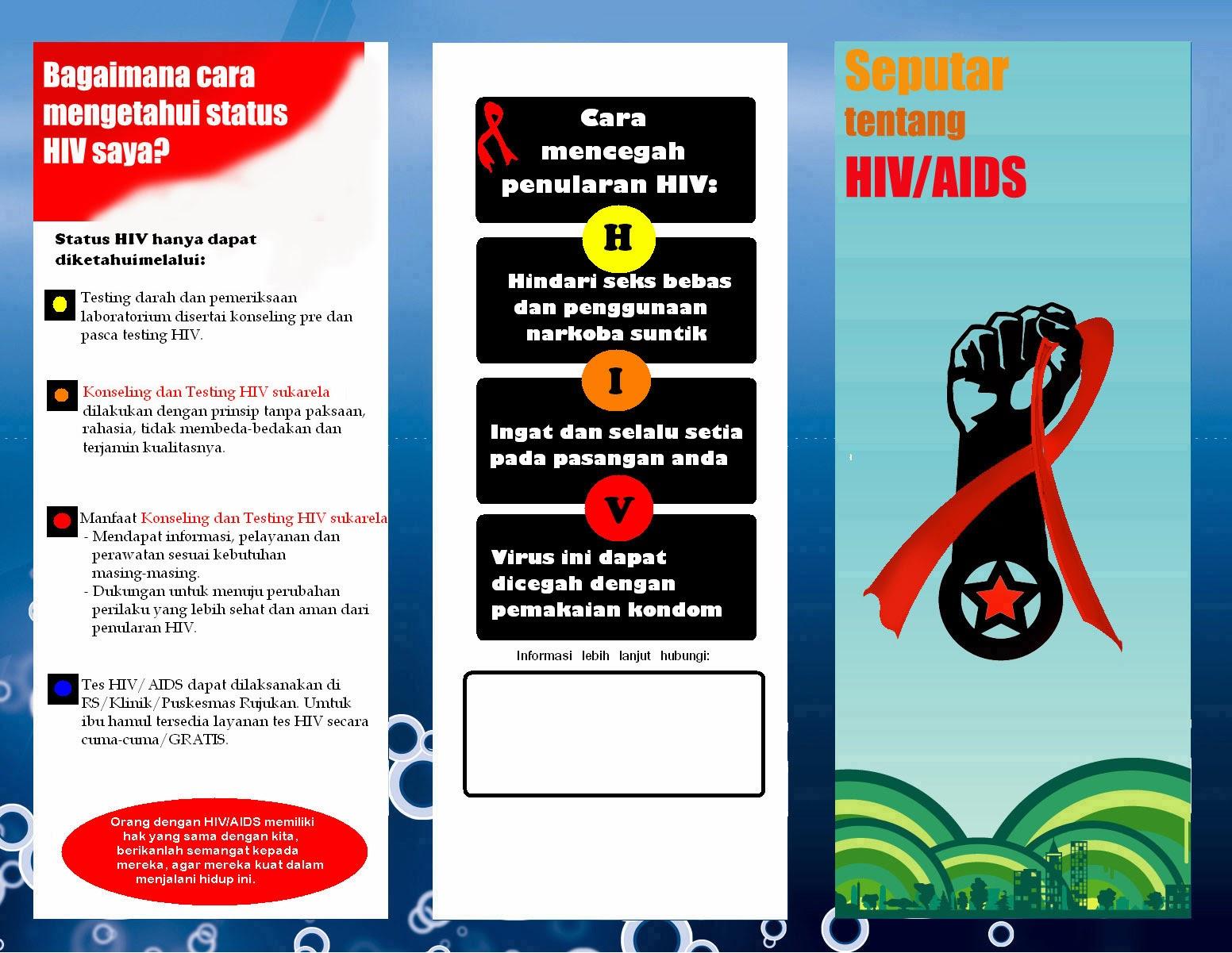Desain Brosur Hiv Aids Hiv Aids Brochure Design Arif Rahman