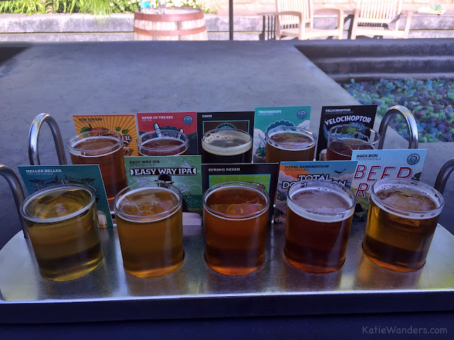 Beer Sampler at Ninkasi Brewery