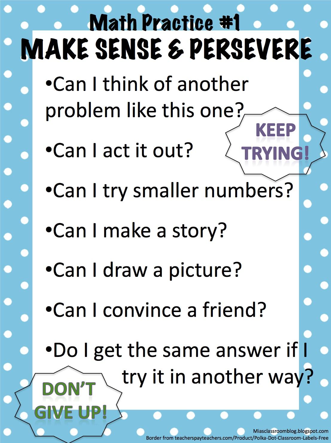 Mia S Classroom Blog Math Practice One Get Unstuck