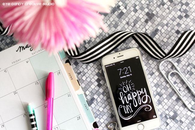 free cell phone background, hand lettering, chalkboard design, freebie