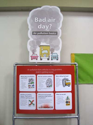 Poster reading Bad Air Day? with info below about air pollution