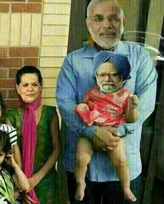 NARENDRA MODI, SONIA GANDHI, MANMOHAN SINGH AFTER ELECTION ...