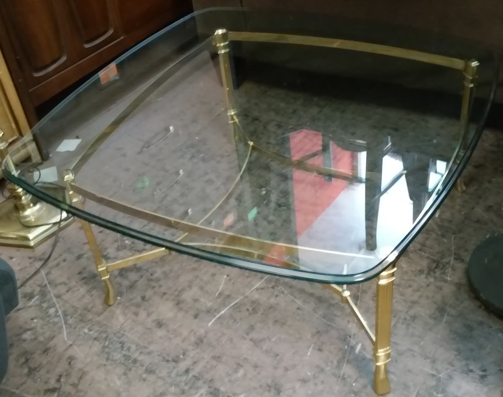 50 Square Coffee Table Uhuru Furniture And Collectibles Sold 31 Quot Square Brass And