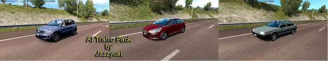 ets 2 ai traffic pack v9.8 screenshots 1, Volkswagen Tiguan, Citroen DS5, Renault 21