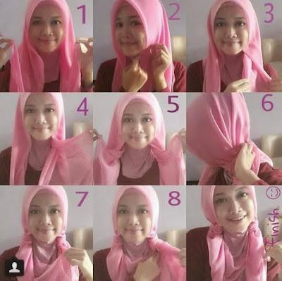 Cara Pakai Hijab Segi Empat Dengan Kreasi