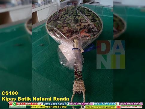 kipas batik natural renda murah