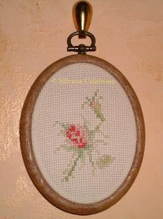 rosa singola punto croce Silvana Calabrese Blog