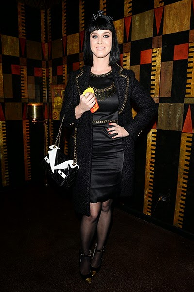 Katy Perry at dinner fashion house Moschino