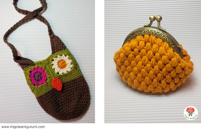 bolsos y monederos tejidos en ganchillo - migoteamigurumi.com