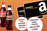Logo Coca-Cola ''My Smart Summer'' : vinci 60 buoni Amazon da 200€ e 1 da 3.000€