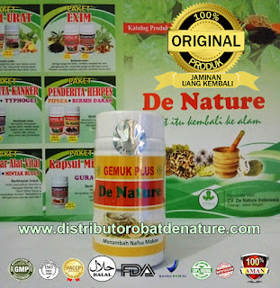 Kapsul Herbal Gemuk Plus De Nature Indonesia