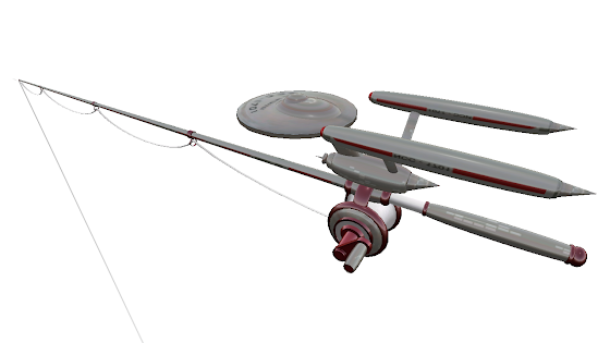 Free USS Enterprise Fishing Rod