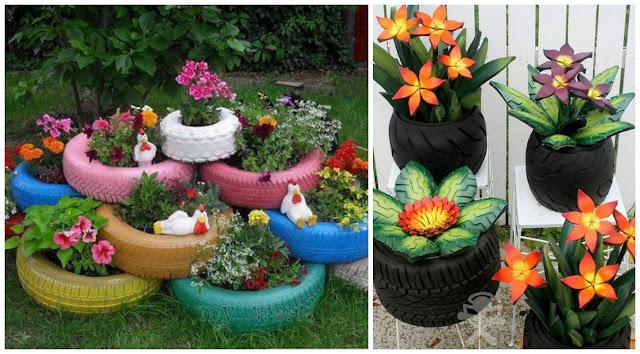 10 ideas incre bles para reciclar llantas viejas de autos cositasconmesh for Articulos para decorar jardines